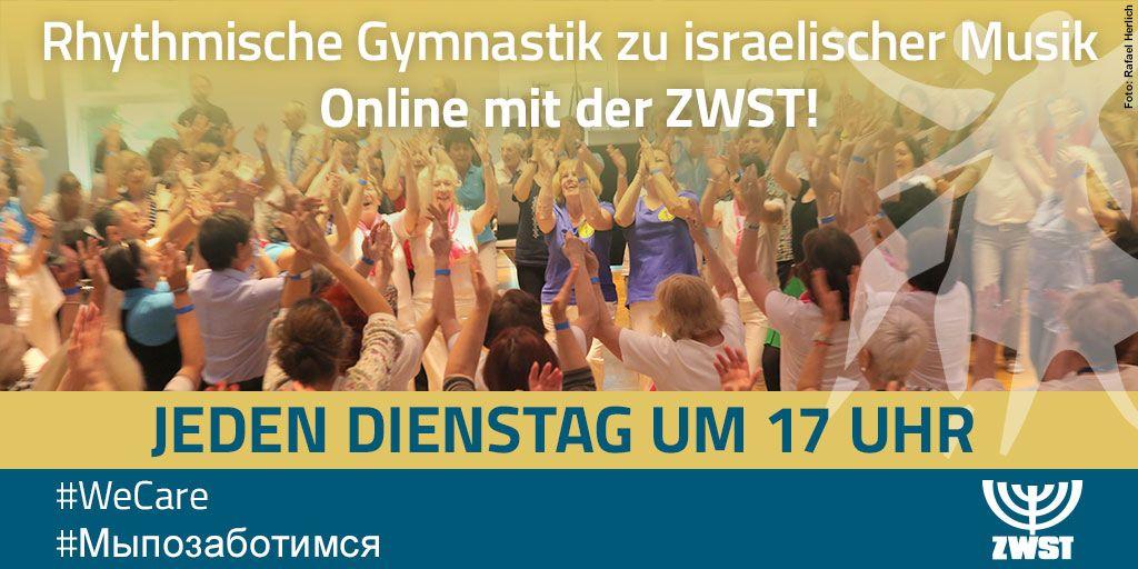 Jeden Dienstag um 17 Uhr: Rhythmische Gymnastik zu israelischer Musik Online mit der ZWST