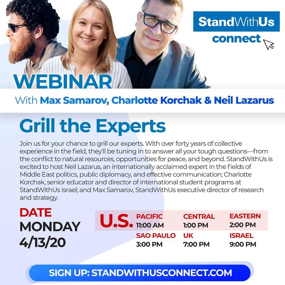 StandWithUs Webinar