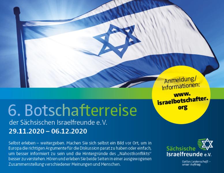 6. Israel - Botschafterreise der Sächsischen Israelfreunde e.V.