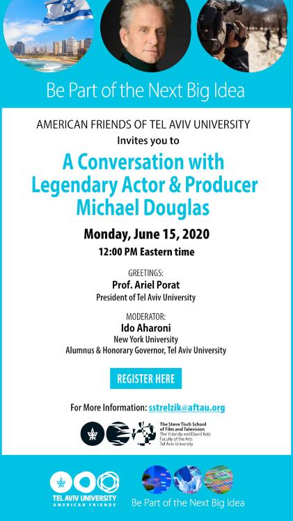 Michael Douglas live im TAU-Webinar: A Conversation with Michael Douglas