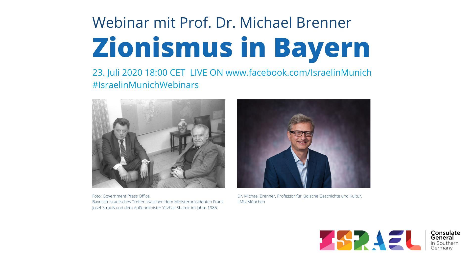Zionismus in Bayern: Webinar mit Prof. Dr. Michael Brenner