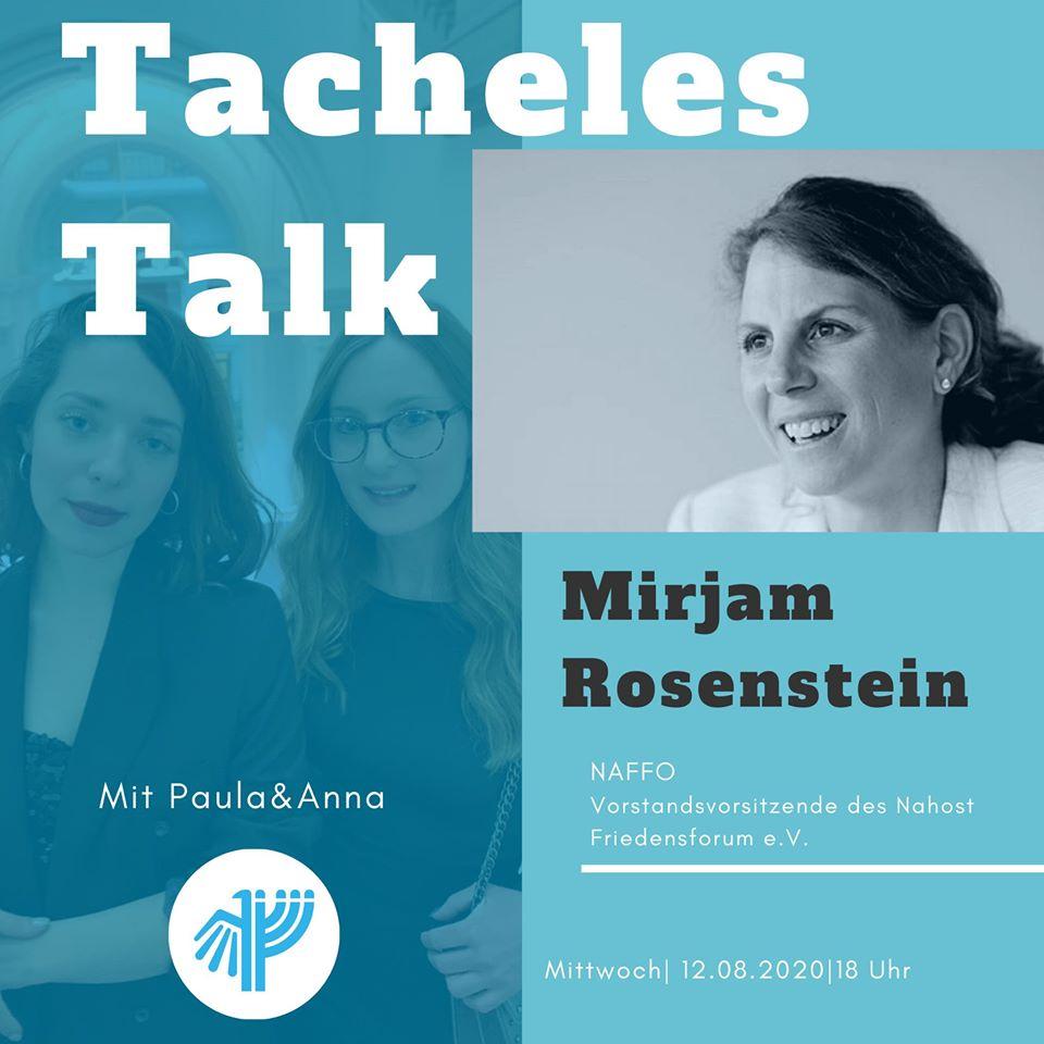 Tacheles Talk mit Mirjam Rosenstein