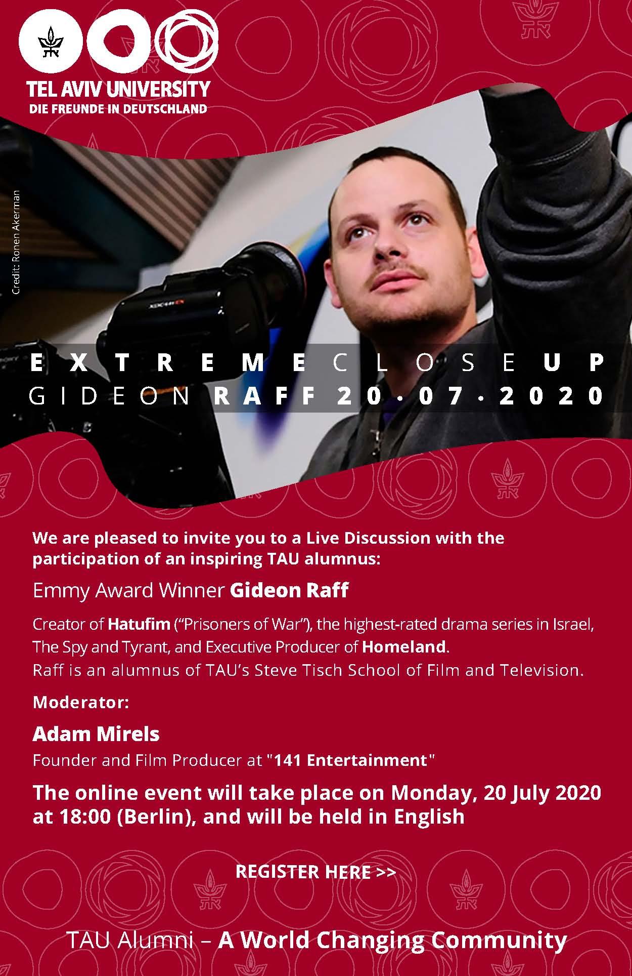 TAU Online mit Emmy Preisträger Gideon Raff am 20.07.2020