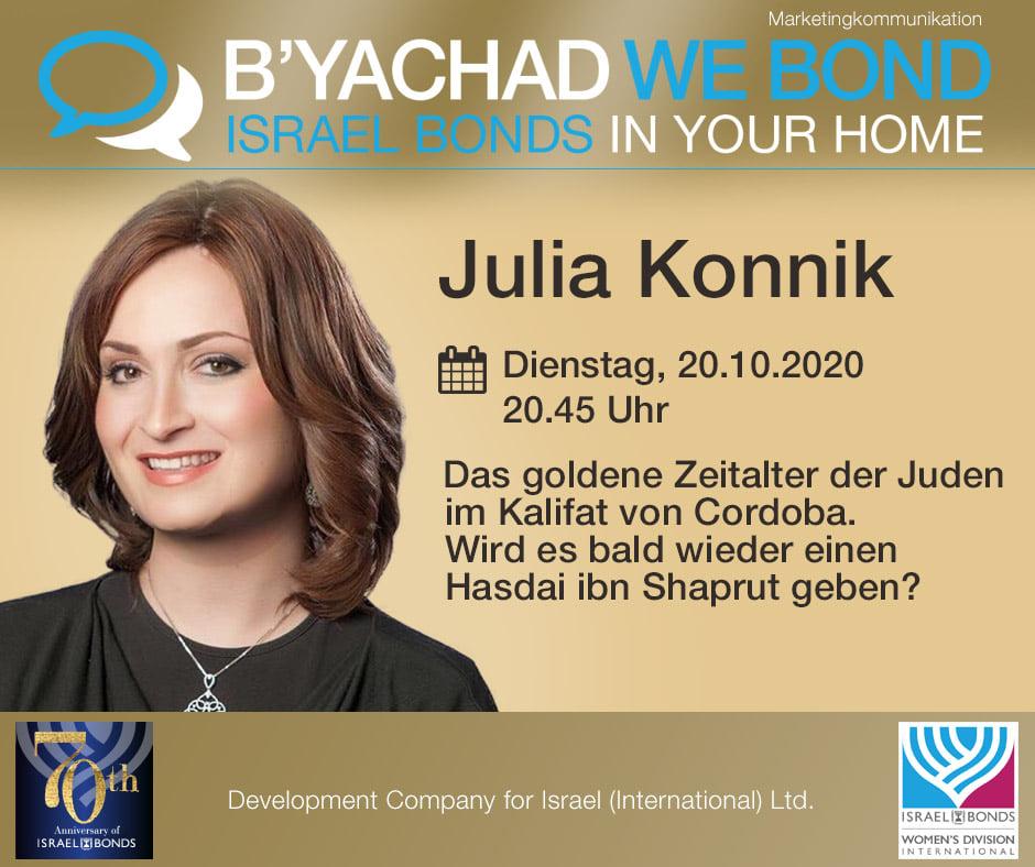 Online-Event mit Rebbetzin Julia Konnik: Spannende Zeitreise in eine Ära des Friedens zwischen Juden und Muslimen