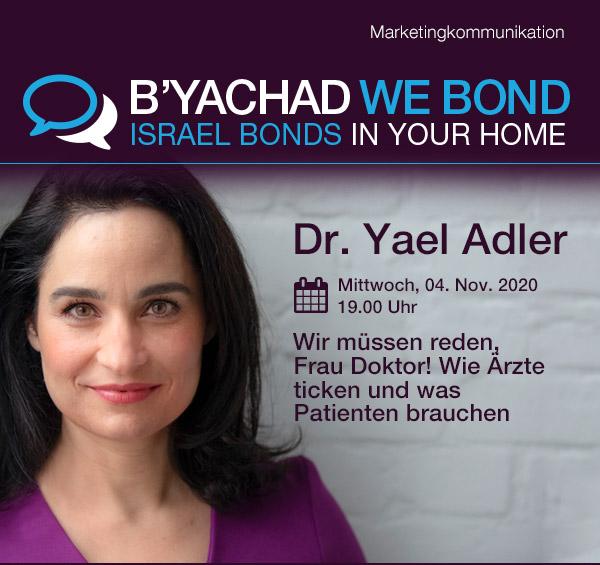Einladung zum Online-Event mit Dr. Yael Adler
