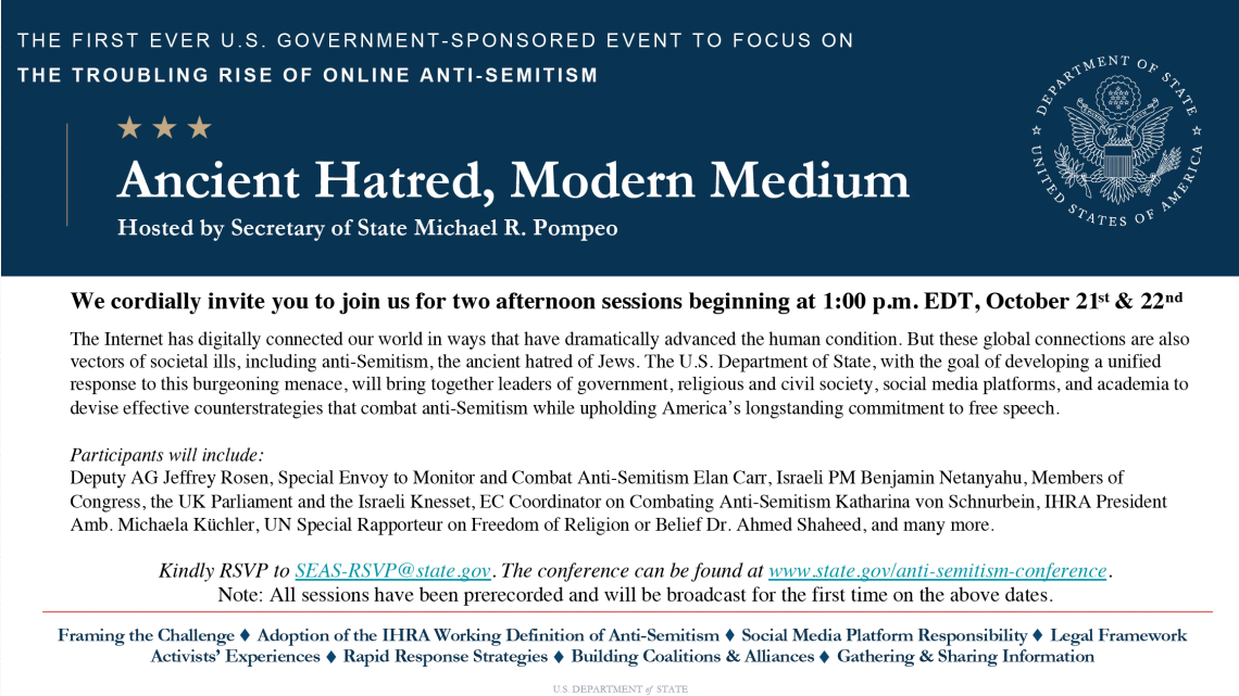 US Department of State: Ancient Hatred, Modern Medium Conference