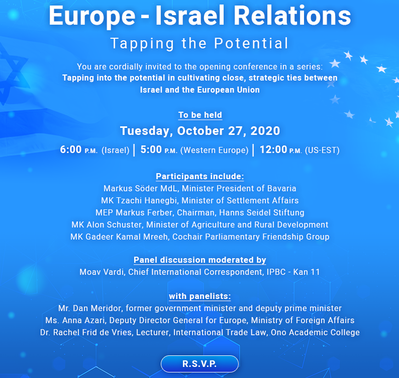 Europe - Israel Relations: Tapping the Potential