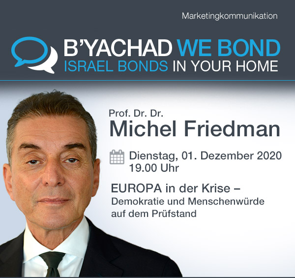 Einladung zum Online-Event mit Prof. Michel Friedman