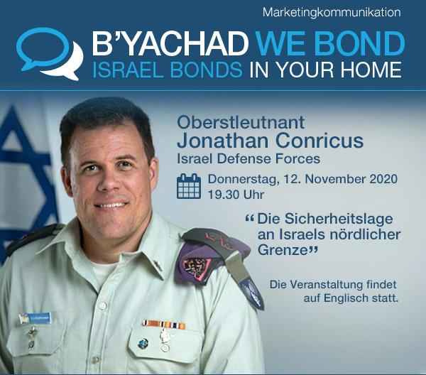 """Einladung zum Online-Event """"Die Sicherheitslage an Israels nördlicher Grenze"""""""