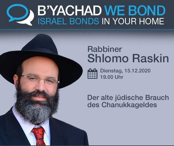 Einladung Online-Event zu Chanukka mit Rabbiner Raskin