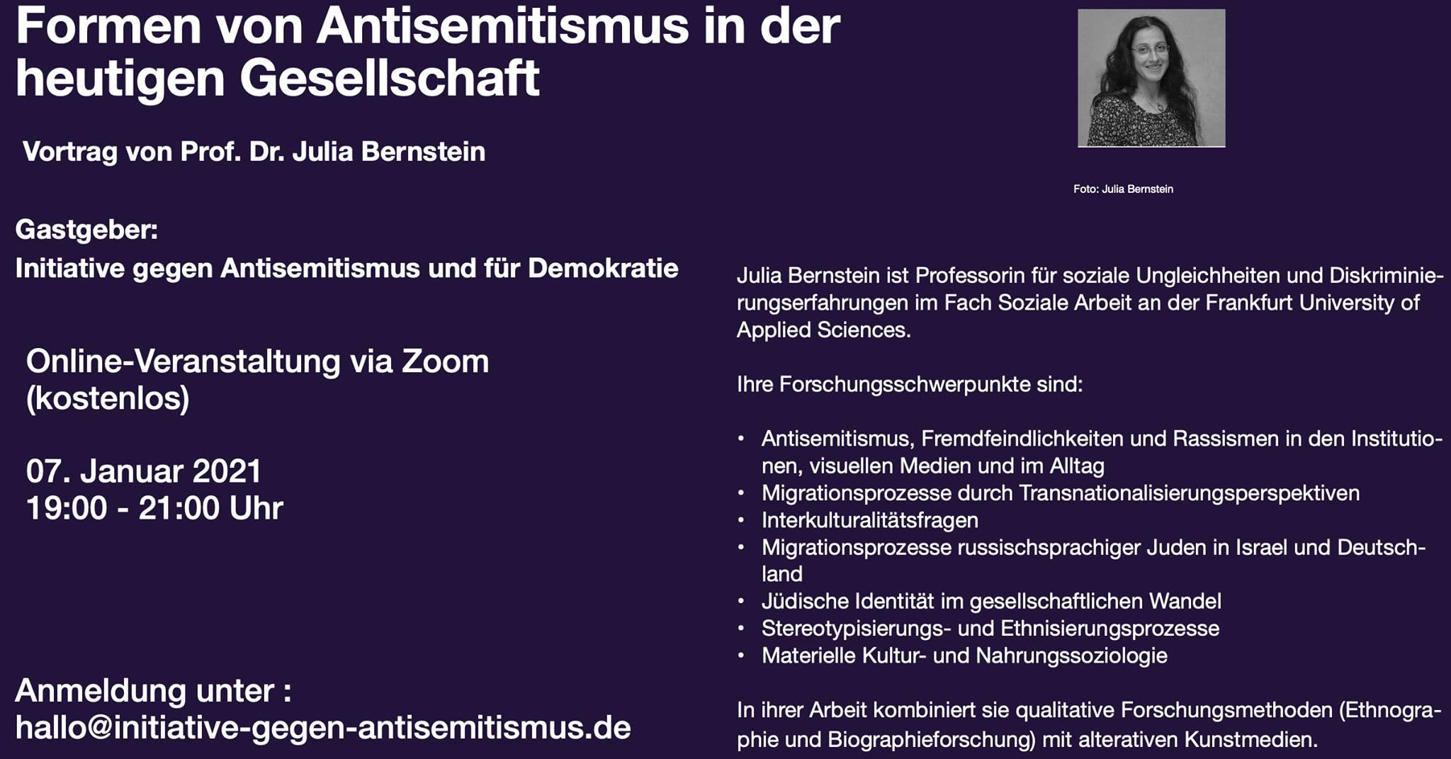 Formen von Antisemitismus in der heutigen Gesellschaft