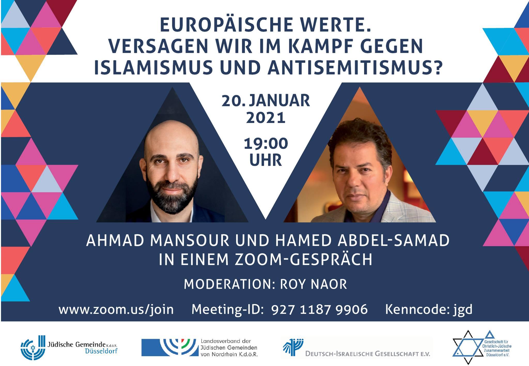 """""""Europäische Werte. Versagen wir im Kampf gegen Islamismus und Antisemitismus?"""""""