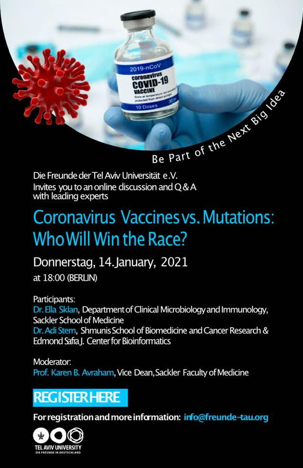 TAU: Coronavirus Vaccines vs. Mutations