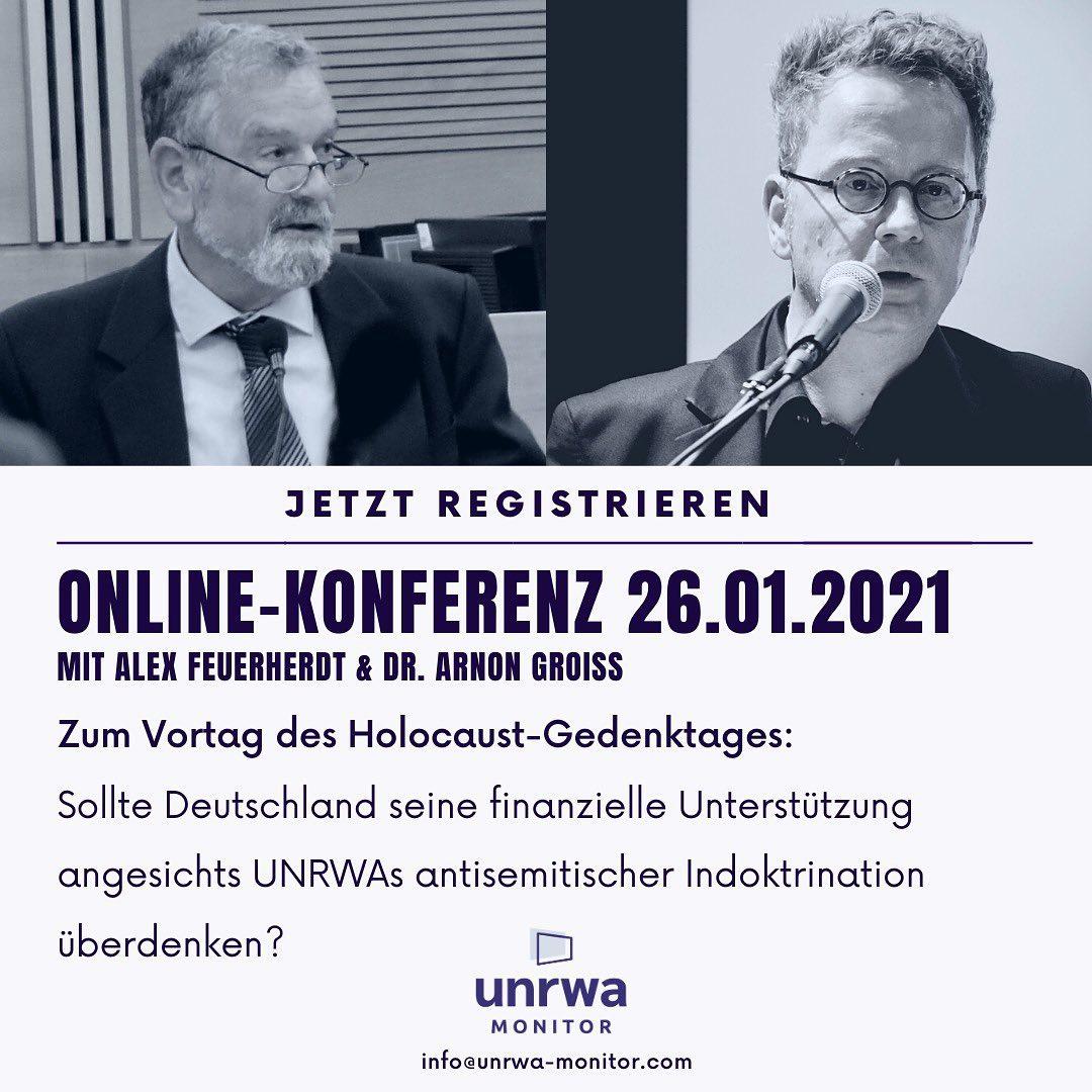 Anlässlich des 76. Jahrestages der Befreiung von Auschwitz sprechen wir über die Verantwortung Deutschlands hinsichtlich der Förderung antisemitischer Inhalte an UNRWA-Schulen.
