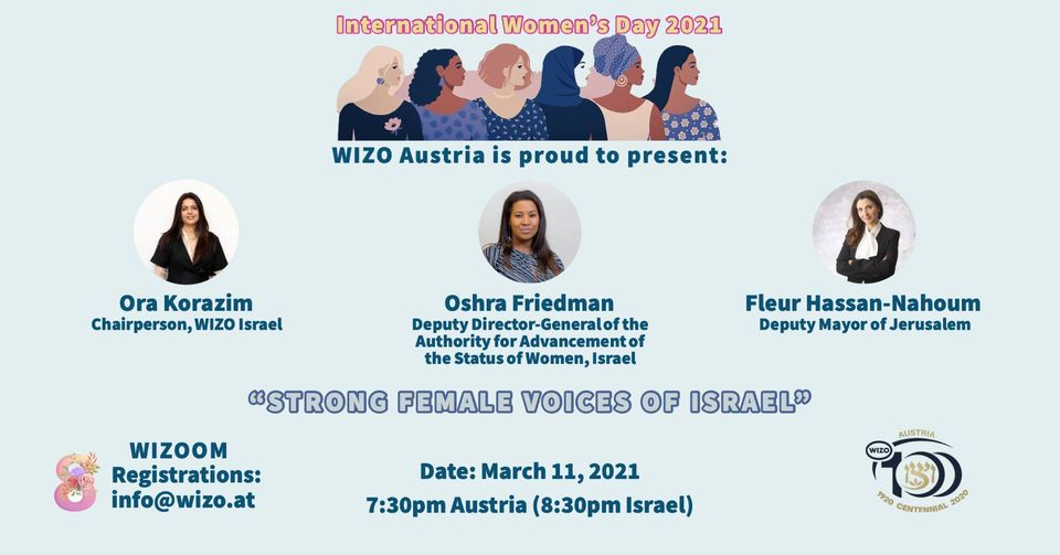 "WIZO Austria - International Women's Day: ""Strong Female Voices of Israel"""