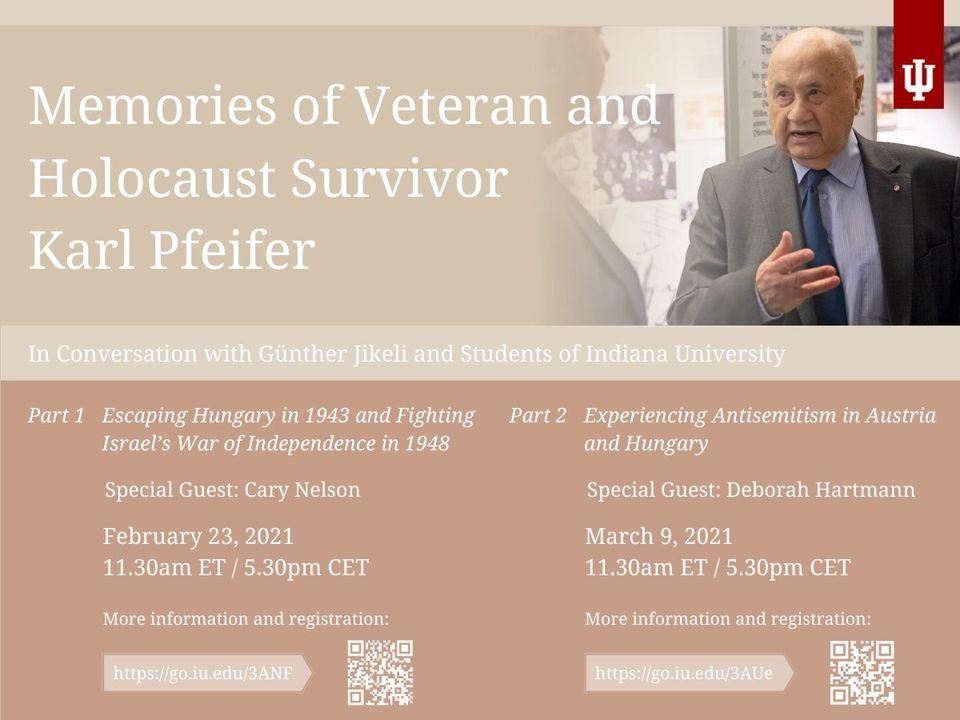 Memories of Veteran and Holocaust Survivor Karl Pfeifer - Part II