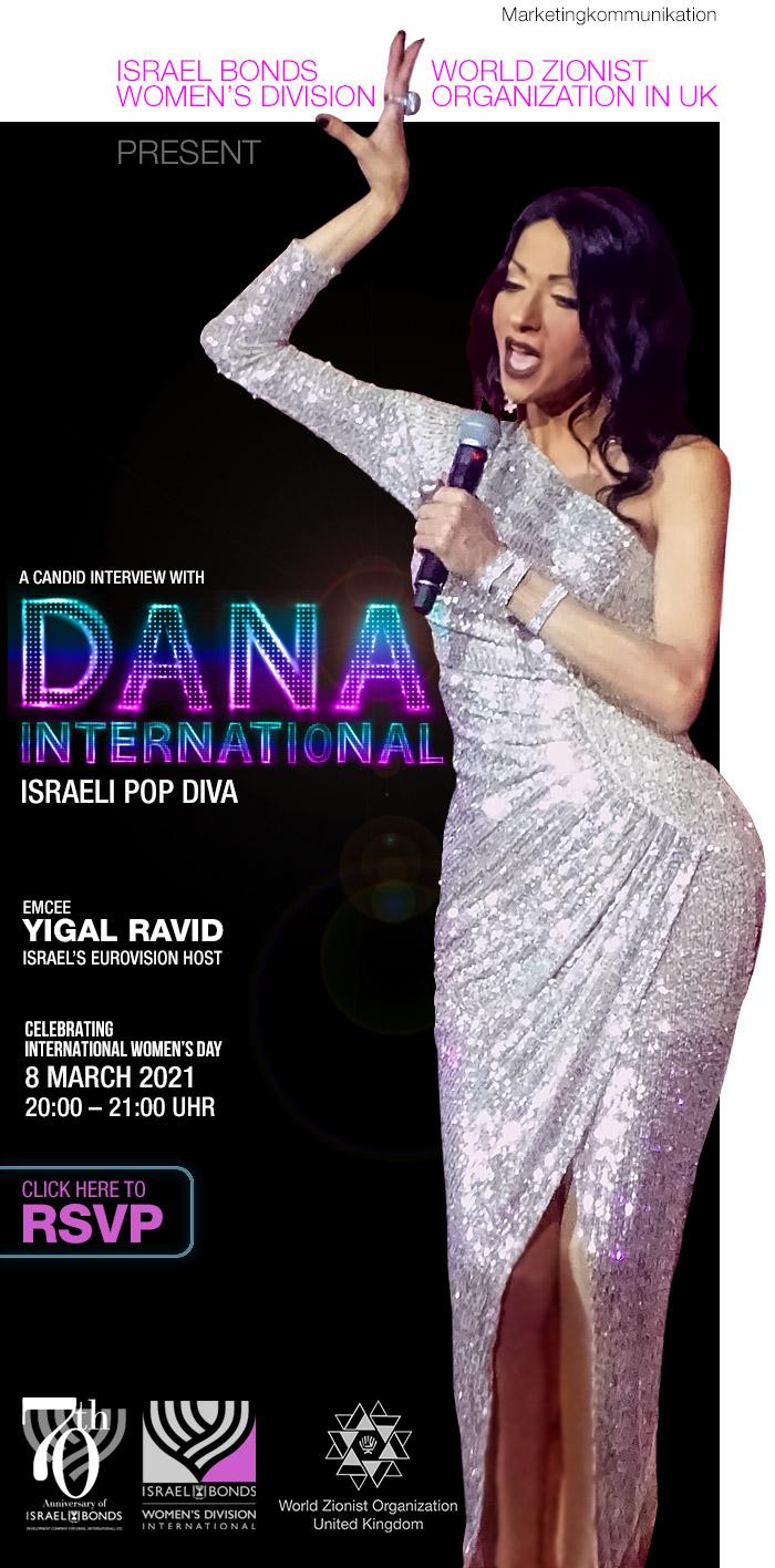 Einladung Online-Event zum Weltfrauentag mit Dana International