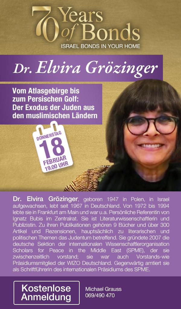 Dr. Elvira Grözinger: Vom Alltagsgebirge bis zum Persischen Golf