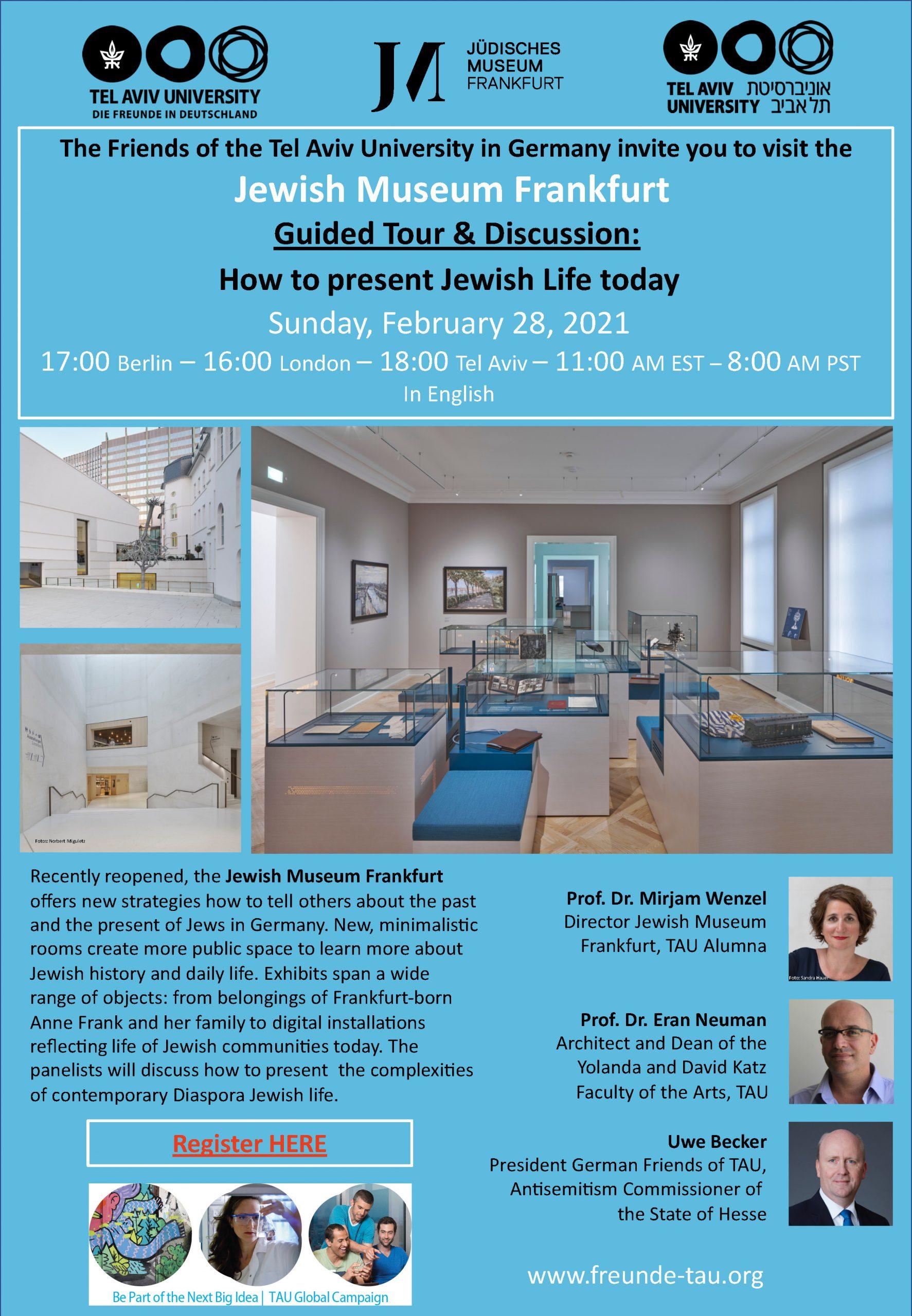 Besuch im Jüdischen Museum Frankfurt - Online am 28.02.2021