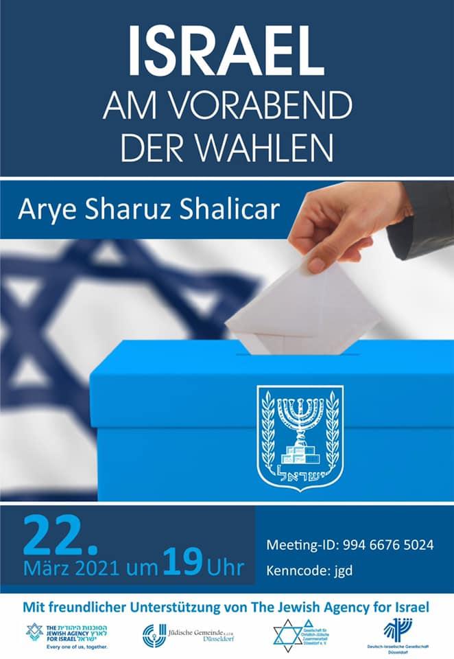 Israel am Vorabend der Wahlen mit Arye Sharuz Shalicar