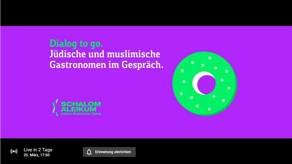 #DialogToGo - jüdische und muslimische Gastronomen im Gespräch