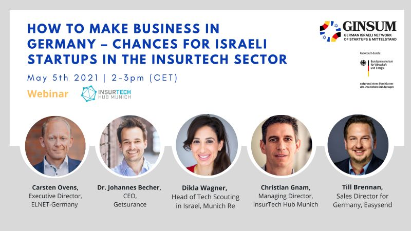 How to make business in Germany – Chances for Israeli Startups in the InsurTech Sector