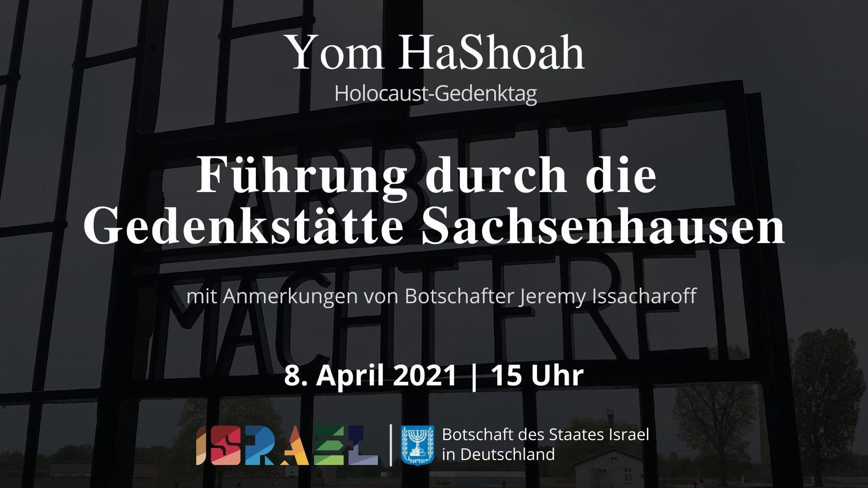 Yom HaShoah: Führung durch die Gedenkstätte Sachsenhausen