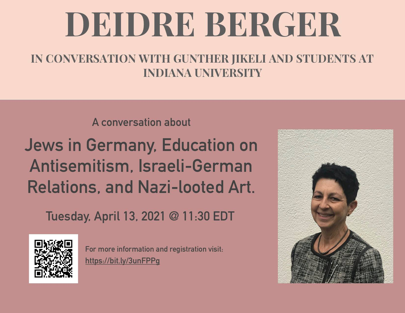 Deidre Berger in conversation with Günther Jikeli: Jews in Germany, Antisemitism, Israel-German relations and more...