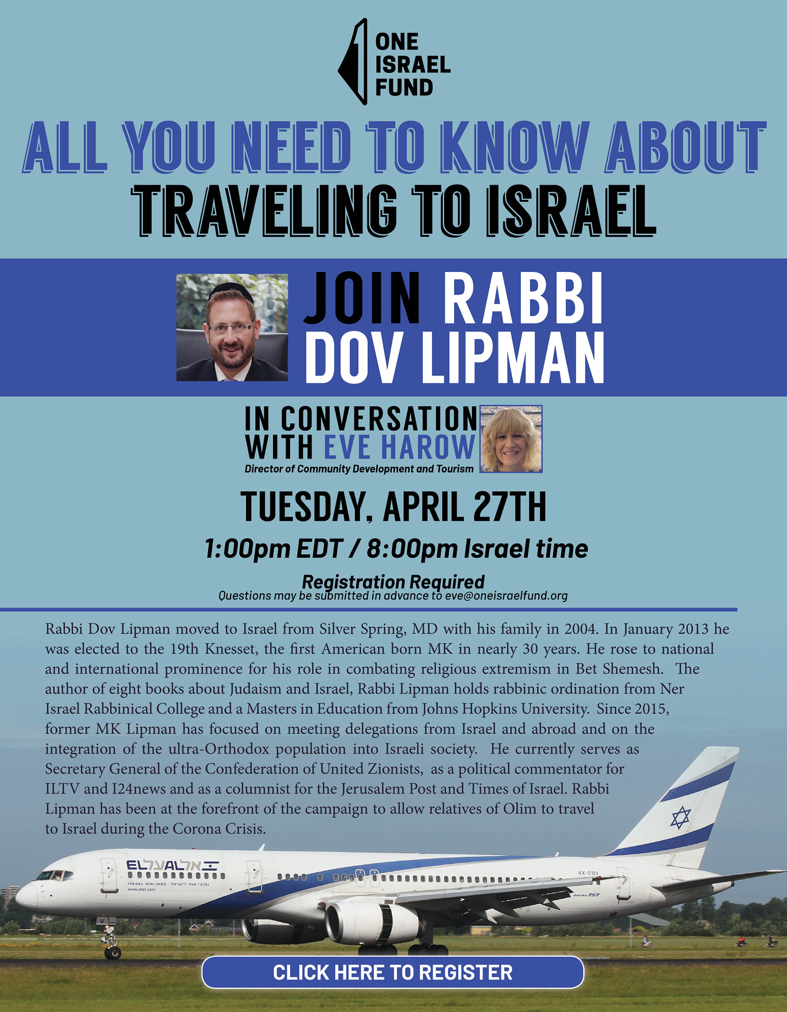WEBINAR ABOUT COMING TO ISRAEL IN THESE CRAZY TIMES: All You Need To Know About Travelling To Israel