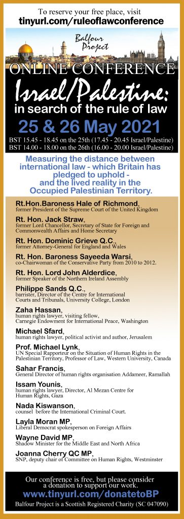 CONFERENCE: Israel/Palestine: in search of the rule of law