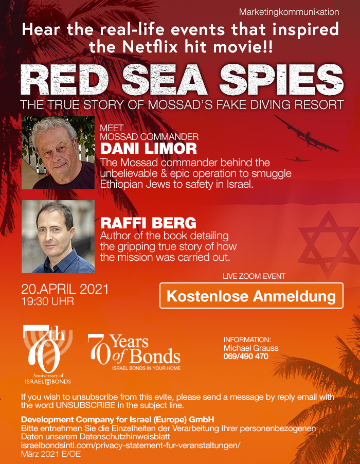 "Einladung Online Event ""Red Sea Spies"""