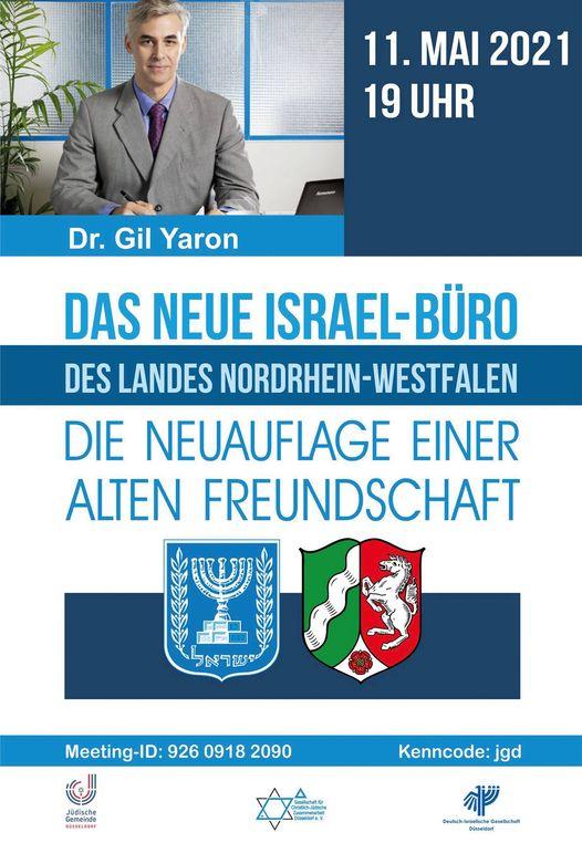 Online-Vortrag von Dr. Gil Yaron: Das neue Israel-Büro des Landes Nordrhein-Westfalen - Die Neuauflage einer alten Freundschaft