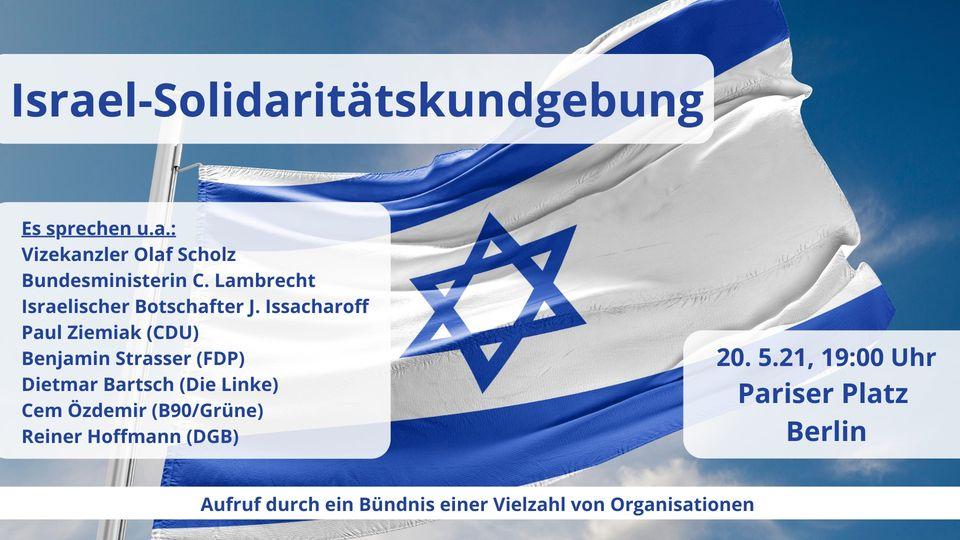 Israel-Solidaritätskundgebung