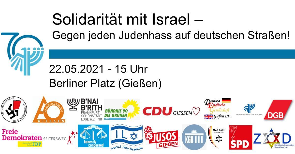 Solidarität mit Israel – Gegen jeden Judenhass auf deutschen Straßen!