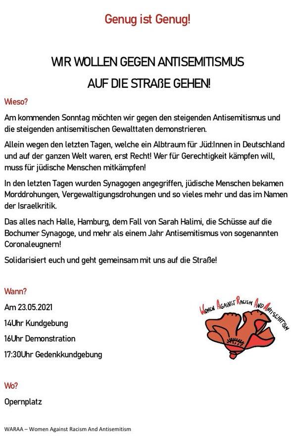 WARAA - Women Against Racism And Antisemitism: Frankfurt - Genug ist genug!