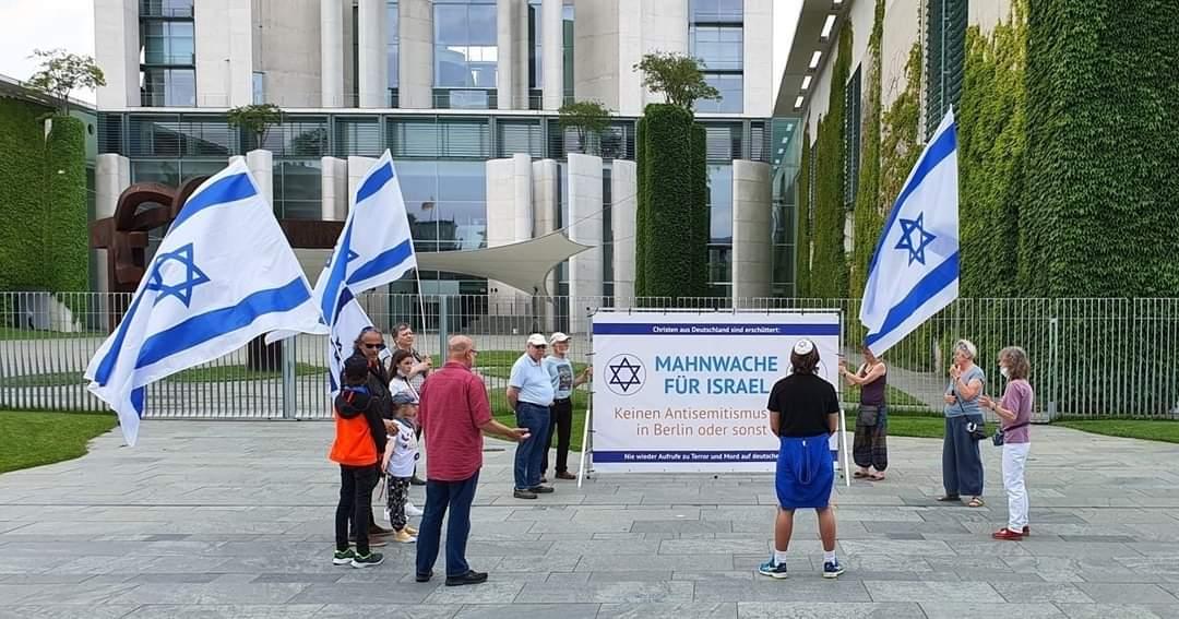 Sondermahnwache für Israel gegen Antisemitismus