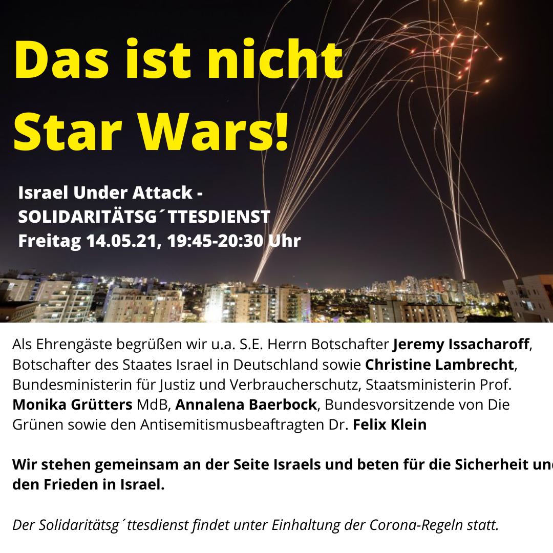 Solidaritätsg'ttesdienst - Israel Under Attack