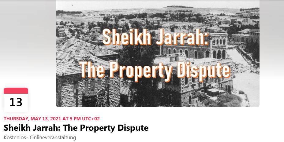 Sheikh Jarrah: The Property Dispute