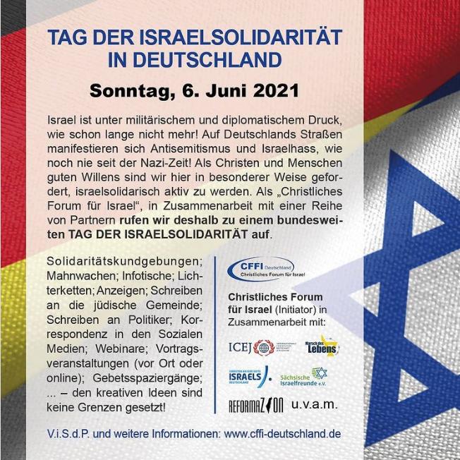 Tag der Israelsolidarität in Deutschland