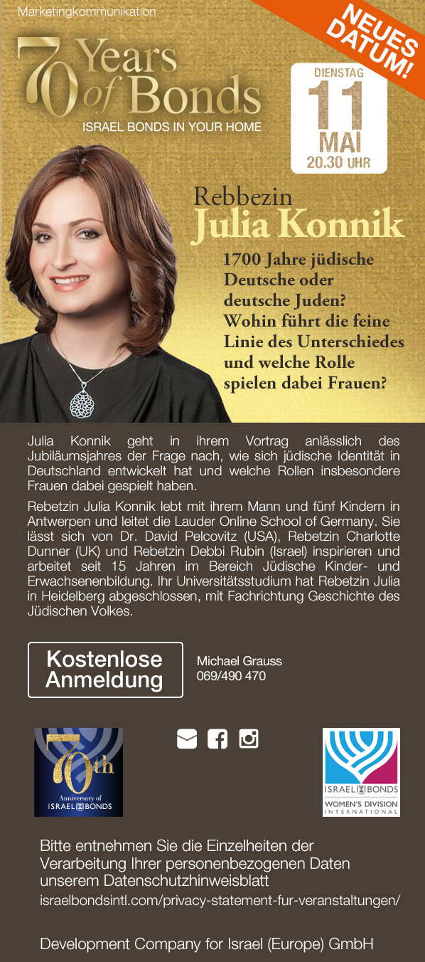 Neuer Termin: Online-Event mit Rebezzin Julia Konnik