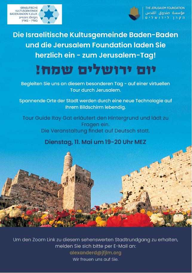 Einladung zur virtuellen Tour durch Jerusalem