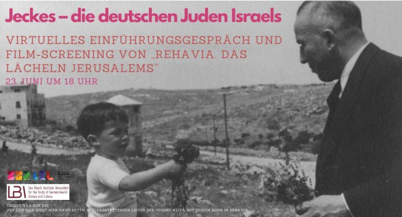 "SAVE THE DATE – Film-Screening ""Rehavia. Das Lächeln Jerusalems"""
