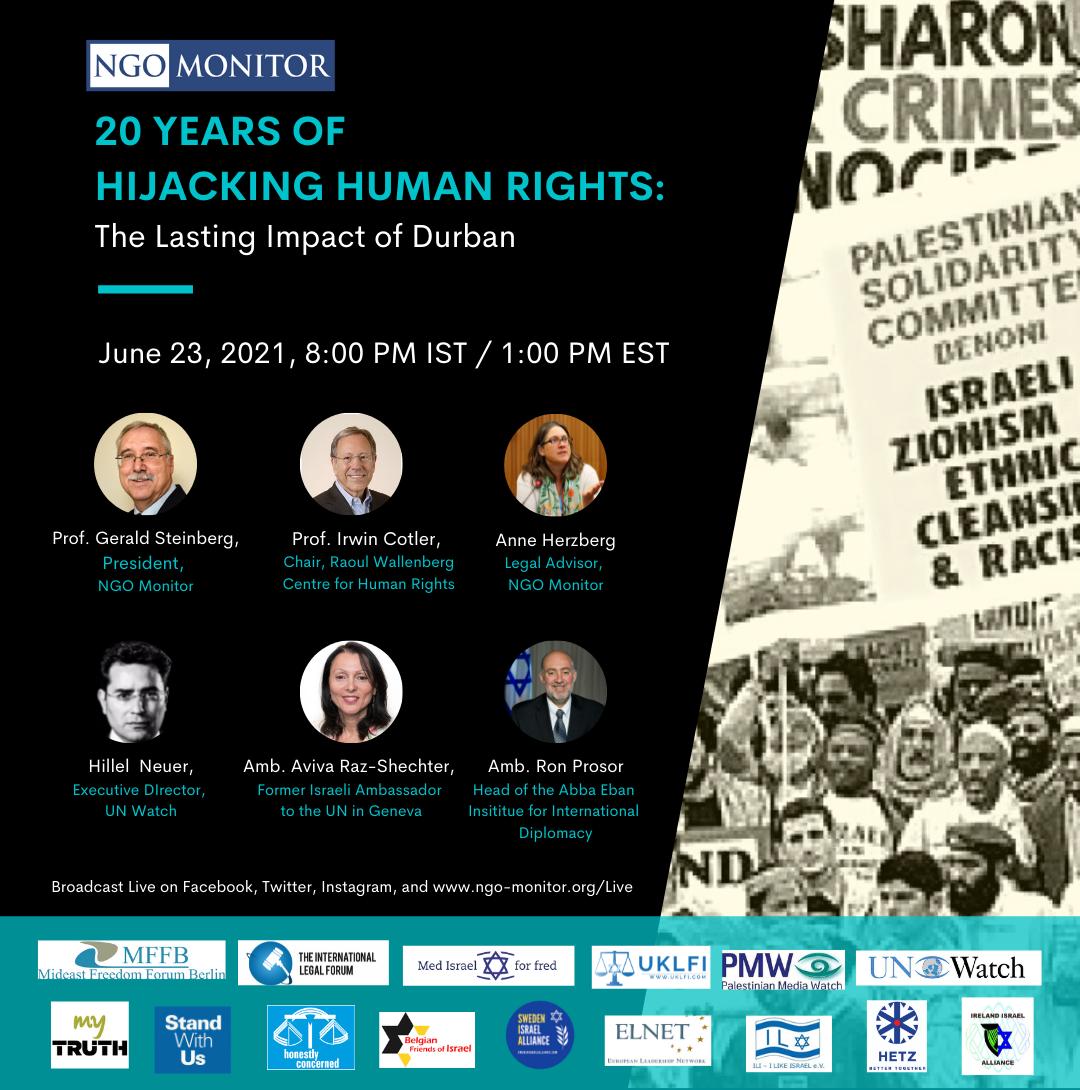 29 Years of Hijacking Human Rights - The Lasting Impact of Durban | NGO Monitor