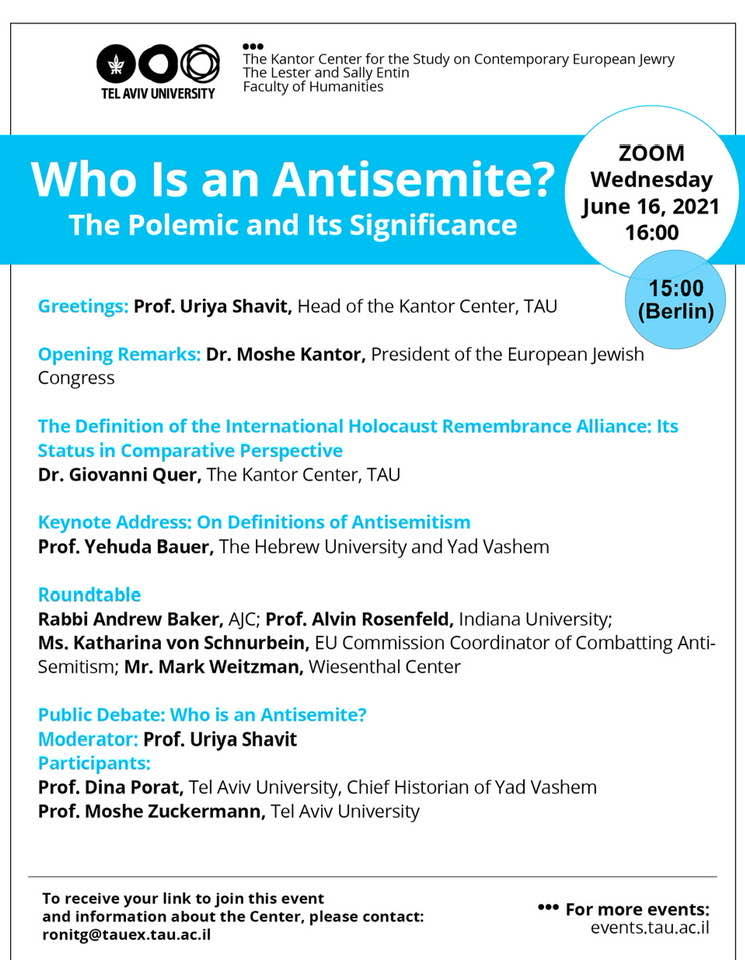 Online Event: Wer ist ein Antisemit?