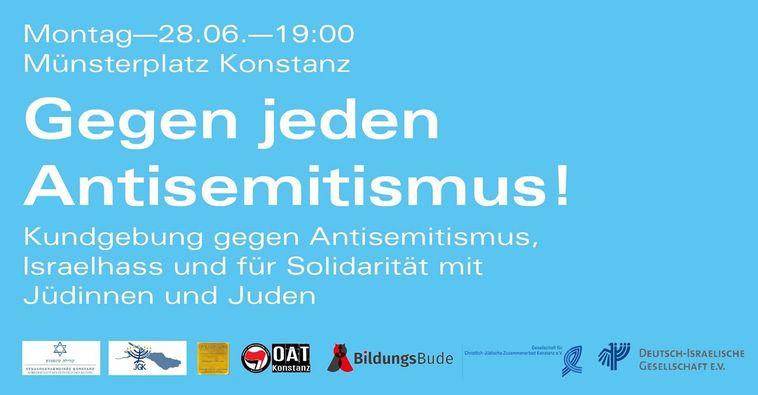 Kundgebung gegen Antisemitismus, Israelhass und für Solidarität mit Jüdinnen und Juden