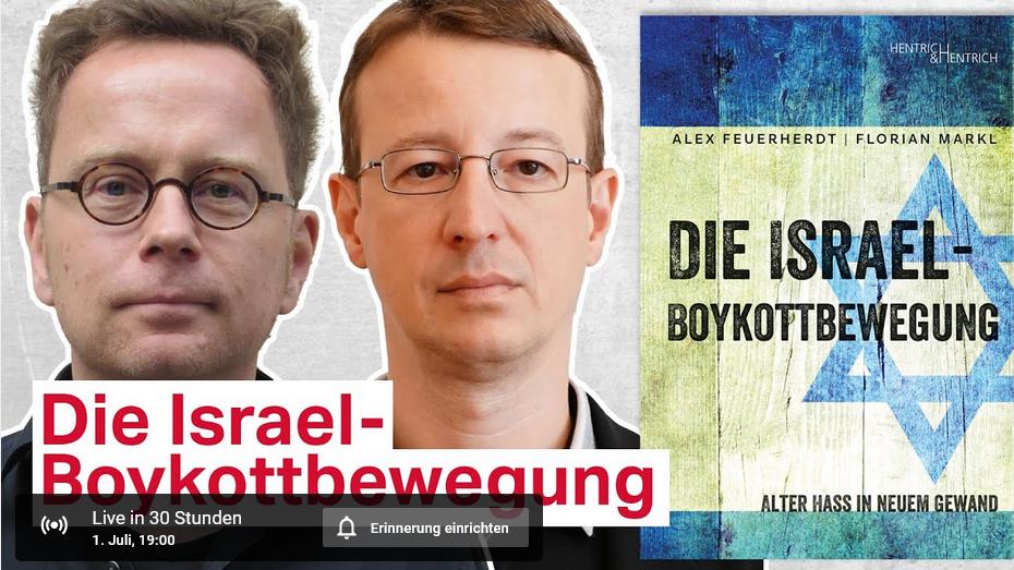 taz Talk - Alex Feuerherdt und Florian Markl: Die Israel-Boykottbewegung