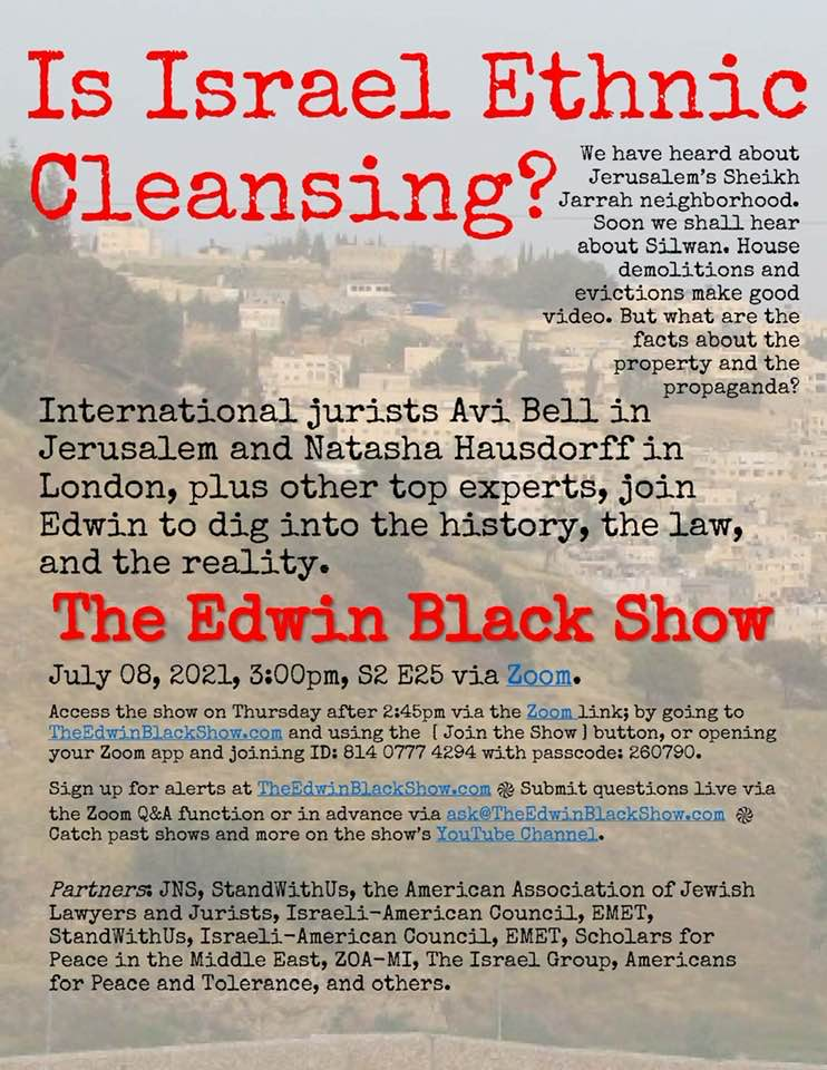 """The Edwin Black Show - S2 E25: """"Is Israel Ethnic Cleansing?"""""""