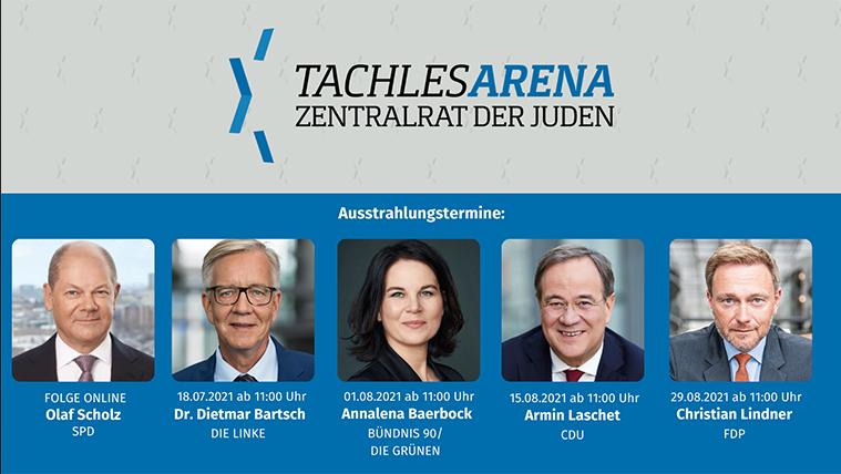 """""""Tachles Arena"""" des Zentralrats der Juden in Deutschland"""