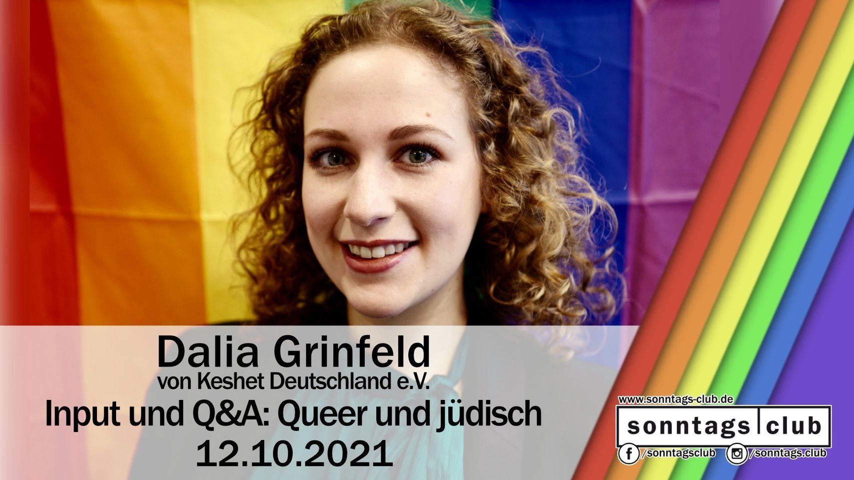 Input und Q&A: Queer und jüdisch mit Dalia Grinfeld von Keshet Deutschland e.V.