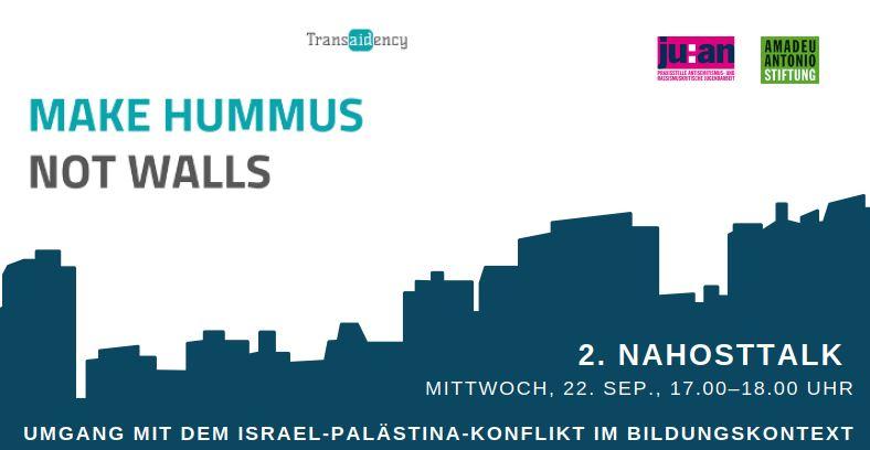 2. Nahosttalk – Umgang mit dem Israel-Palästina-Konflikt im Bildungskontext